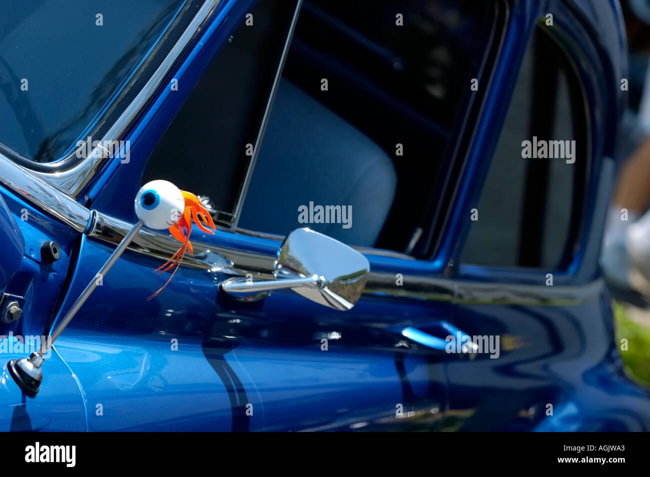 Side Of Vintage Car With Eyeball Antenna Stock Photo 4645282 Alamy