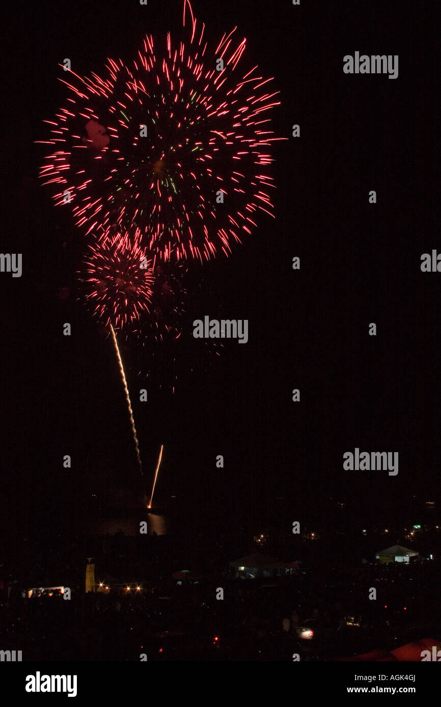 Fireworks at 2nd Pyrolympics Pasay City Philippines - Stock Image