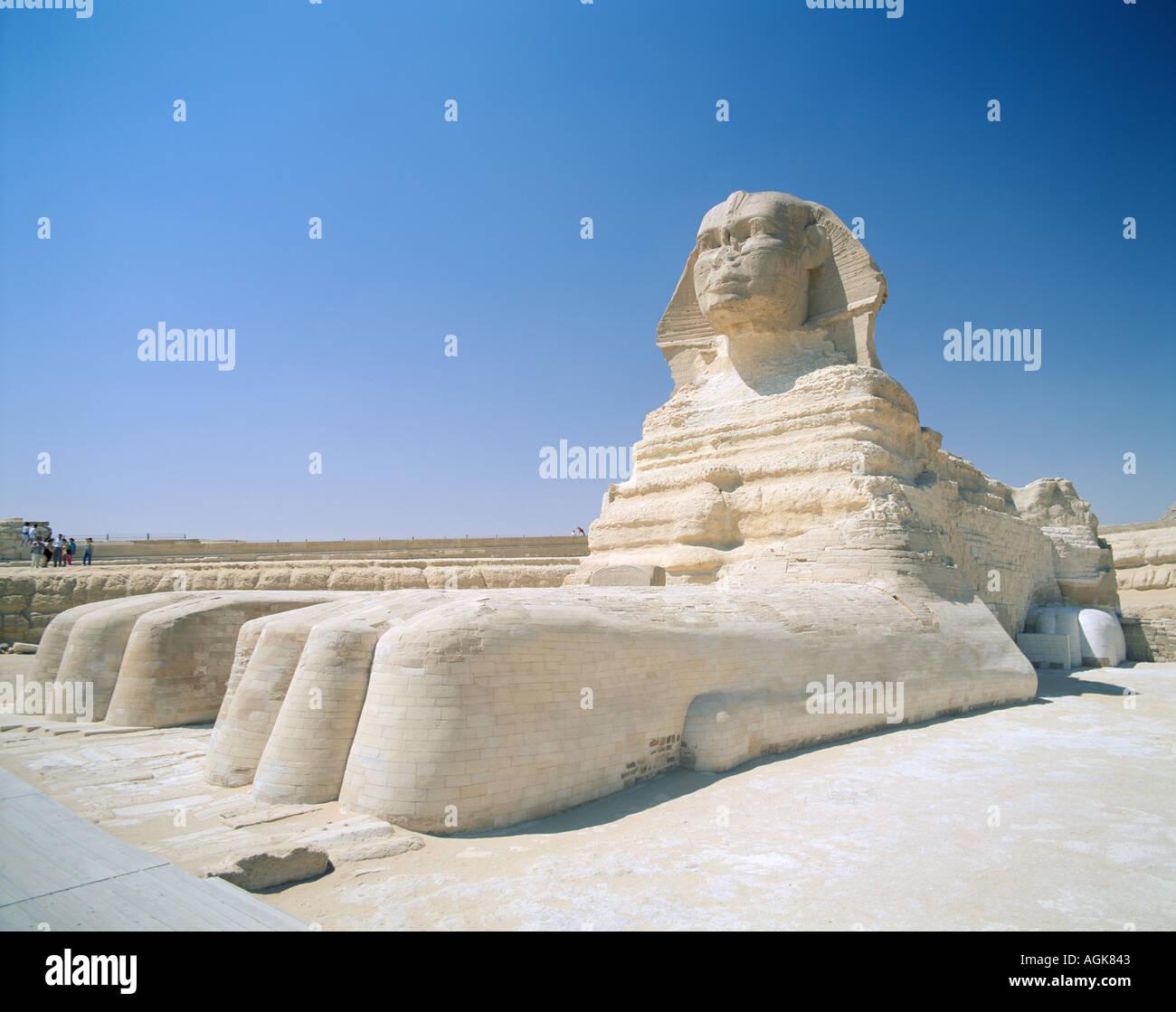 Sphinx Giza Cairo Egypt - Stock Image
