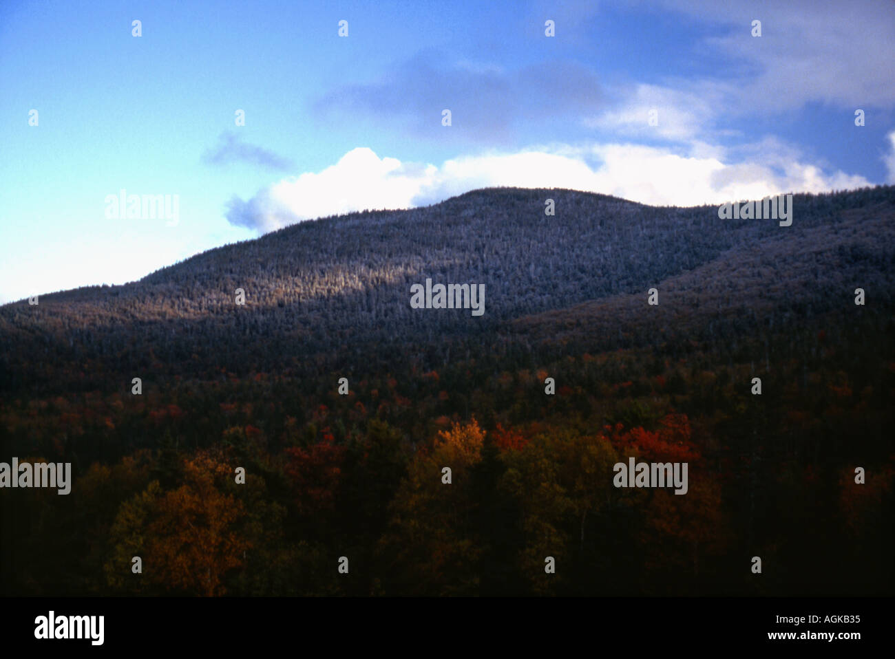 First Frost on Mountain Top - Stock Image