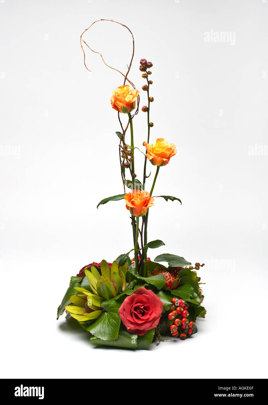 Wedding table decoration - Stock Image