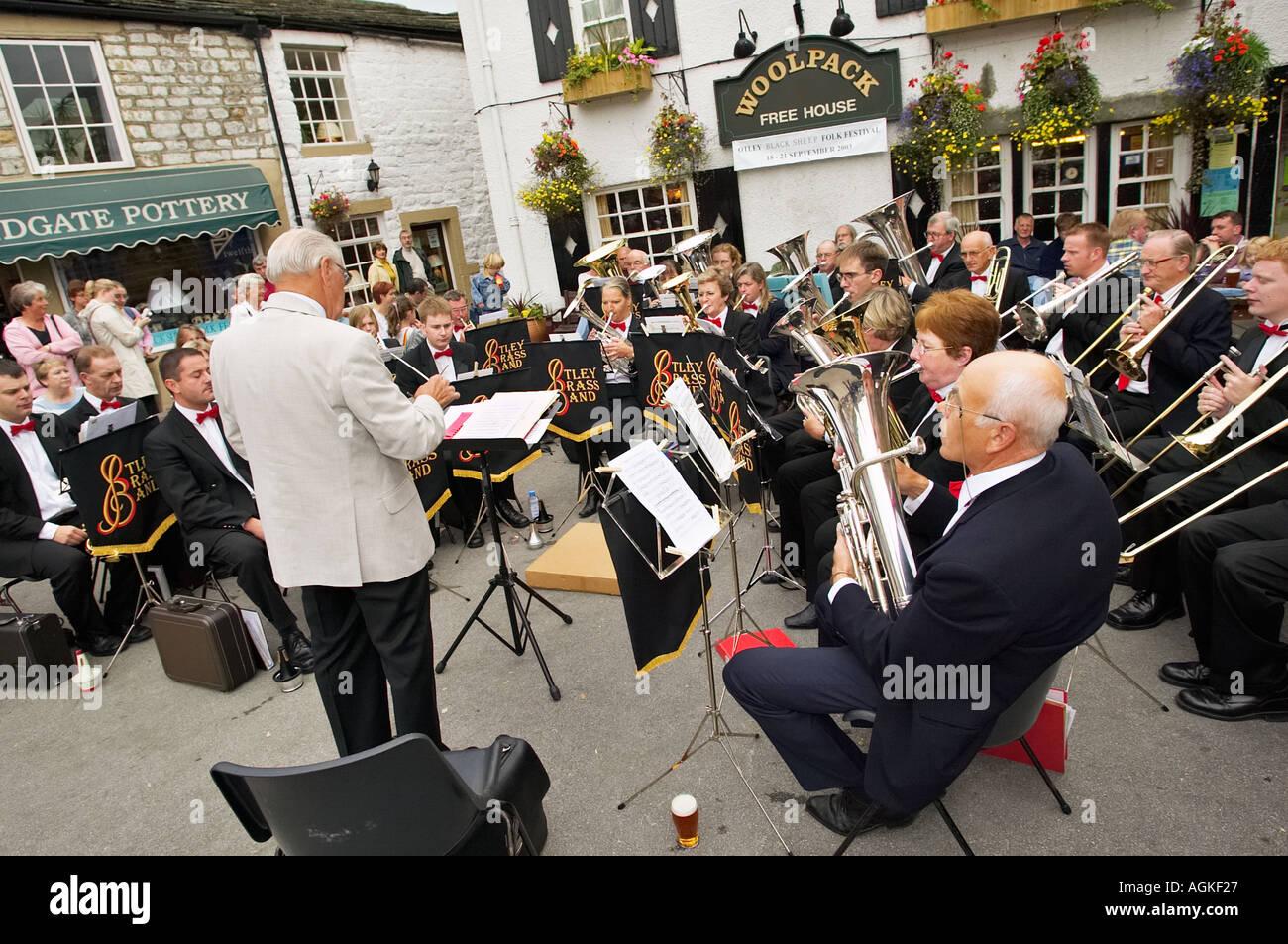 Otley Brass Band Yorkshire England UK - Stock Image