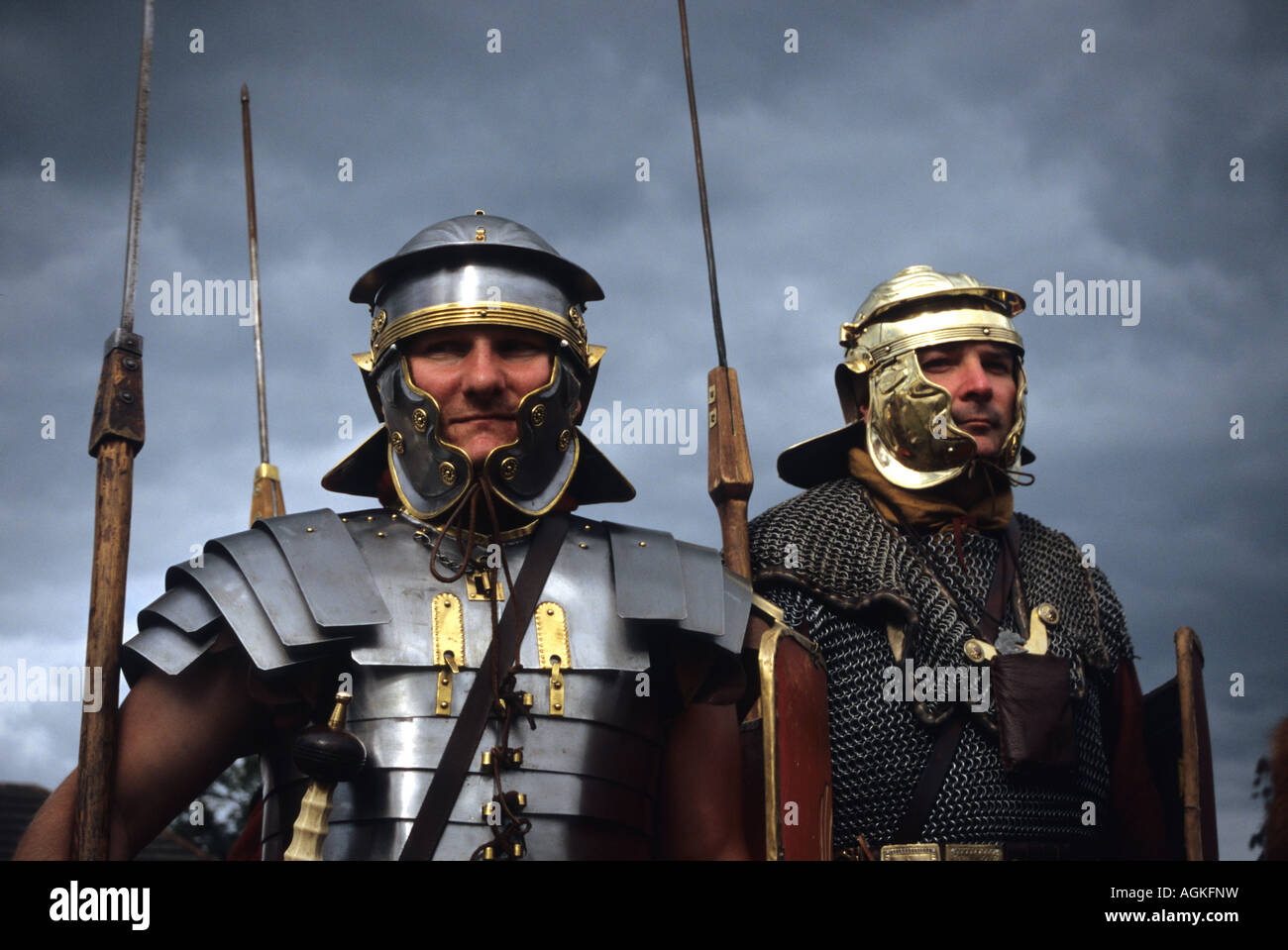 Roman Soldiers At Middlewich - Stock Image
