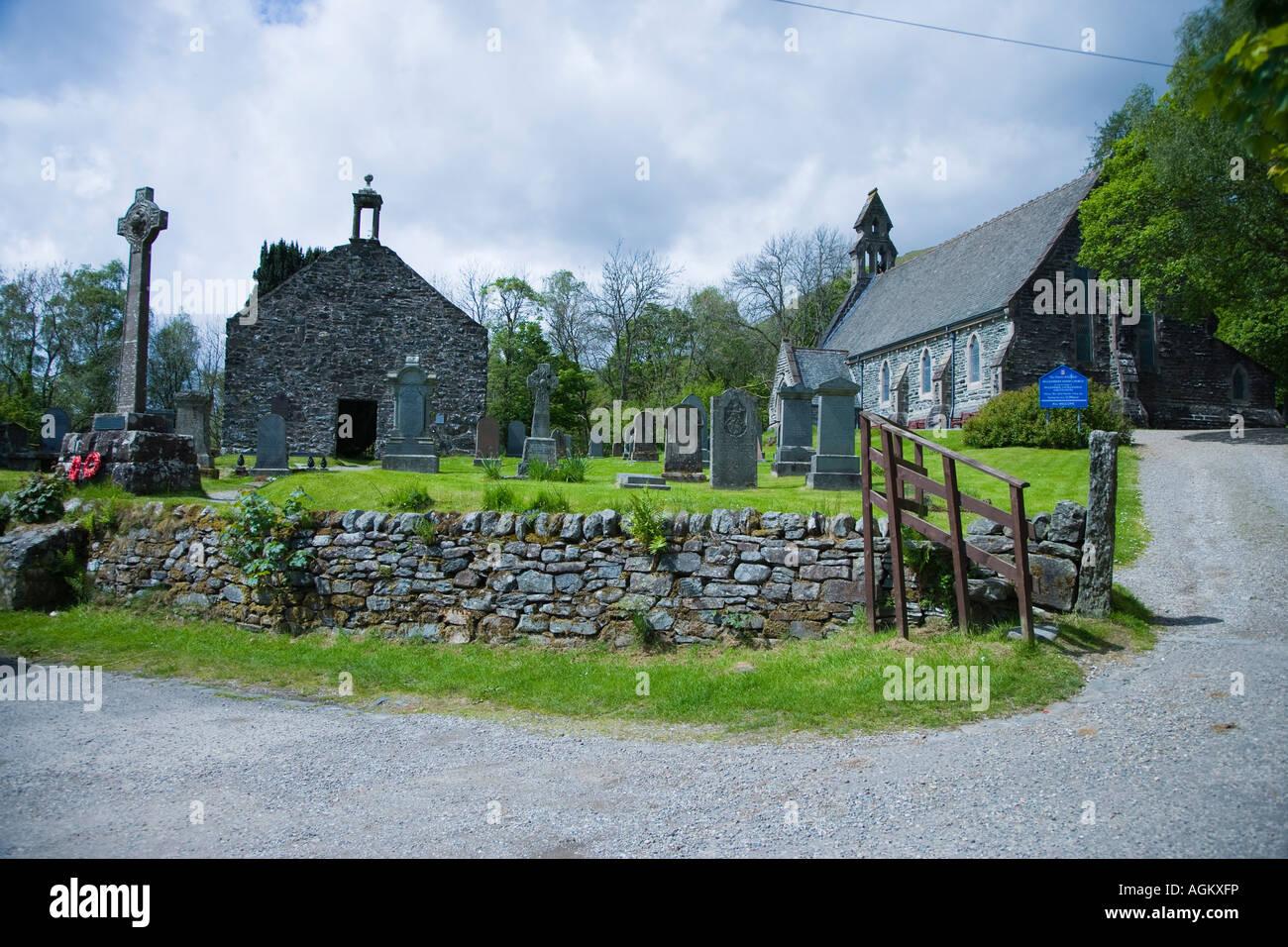 The Grave of Rob Roy MacGrego, Balquhidder, Scotland Stock Photo