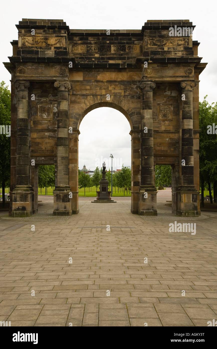 Jocelyn Gate Glasgow Scotland Stock Photo