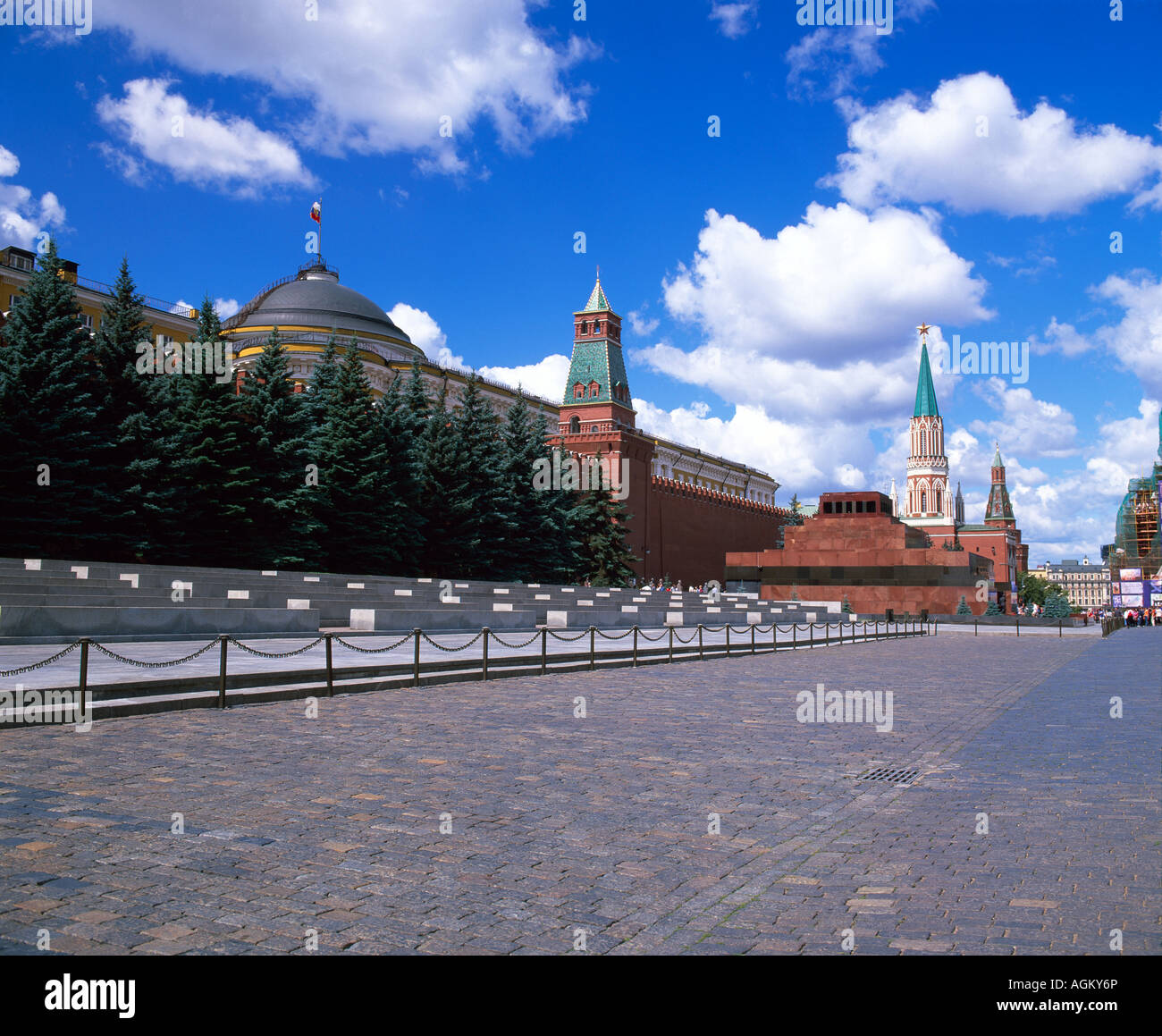 Russia Moscow Kremlin Mausoleum of Lenin at the Kremlin in Red Square Moscow Russia Stock Photo