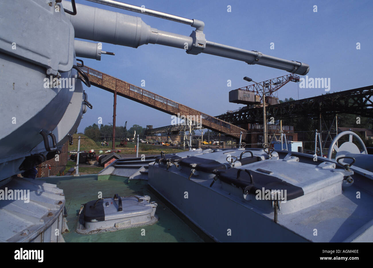 Warship, Historic Technical Information Center, Historisch technisches Informationszentrum, Museum, Peenemuende, Usedom Island - Stock Image