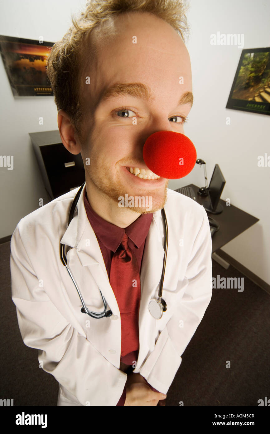 Humourous medical professional - Stock Image