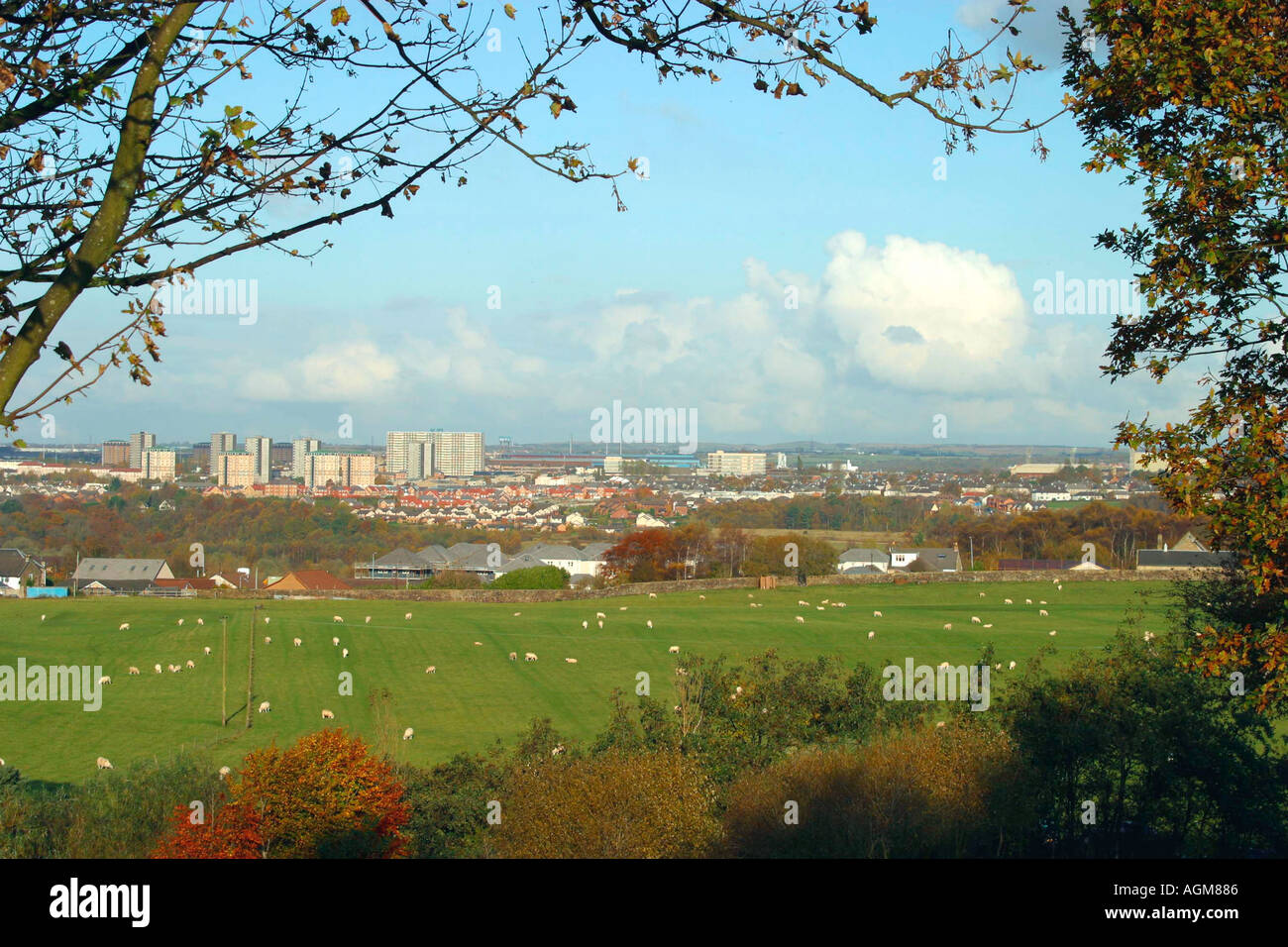 Motherwell Strathclyde Central Scotland - Stock Image