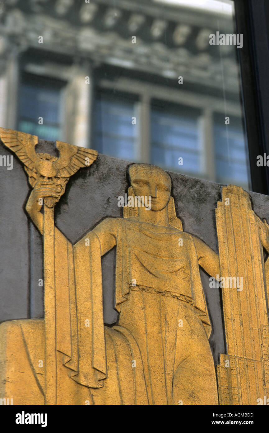 Art Deco Architecture Detail 5th Avenue New York City Stock Photo
