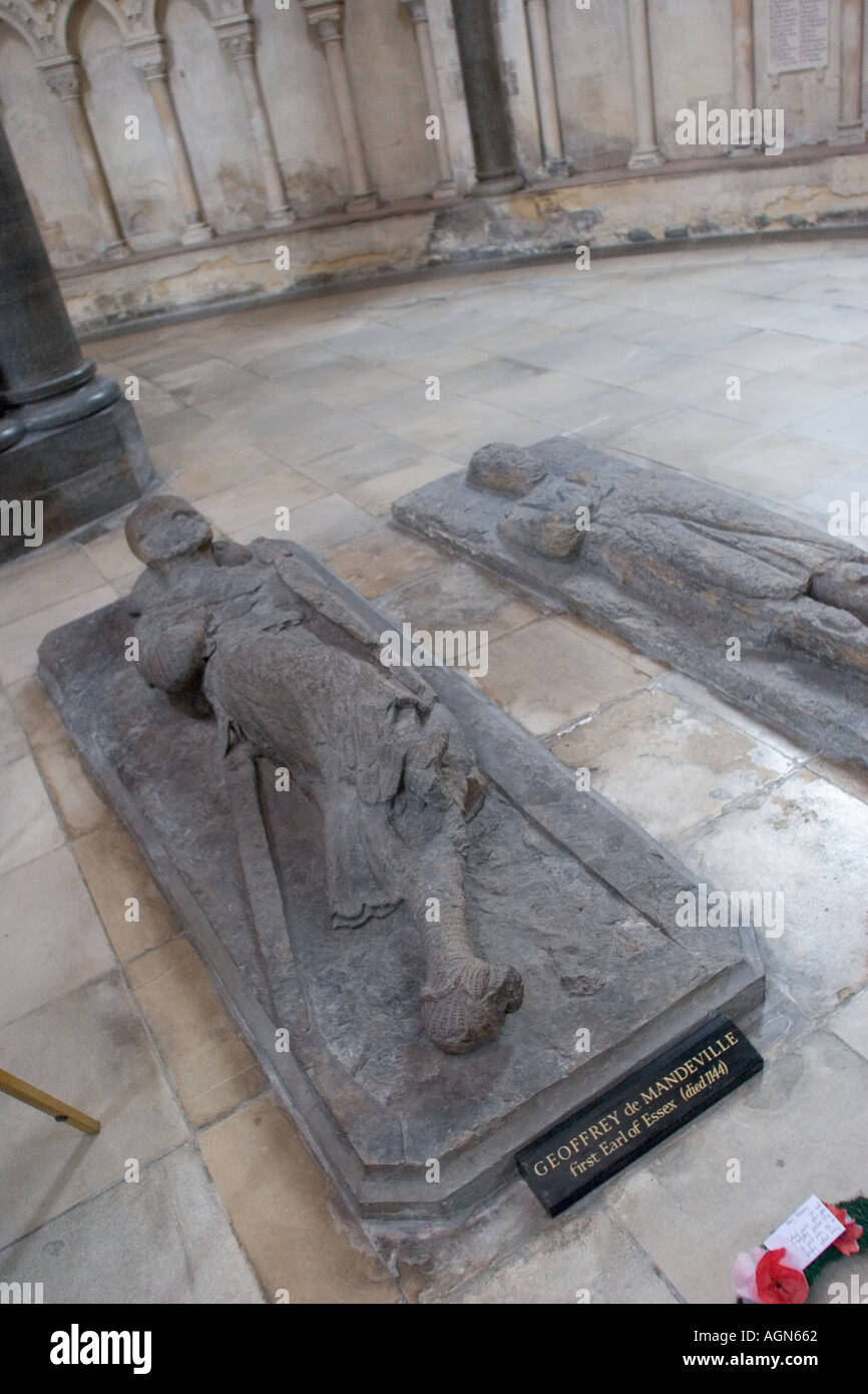 Knights effigies at Temple Church Temple London - Stock Image