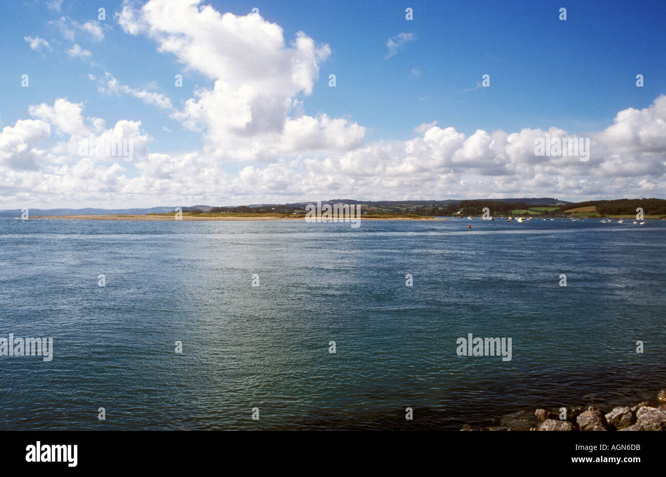 The River Exe Estuary at Exmouth in Devon, England - Stock Image