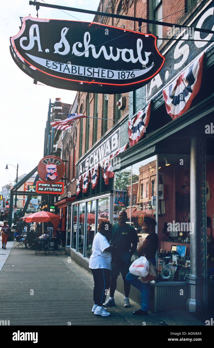 Schwab's, founded 1876, the renowned dime store on Beale Street, Memphis Tennessee Stock Photo