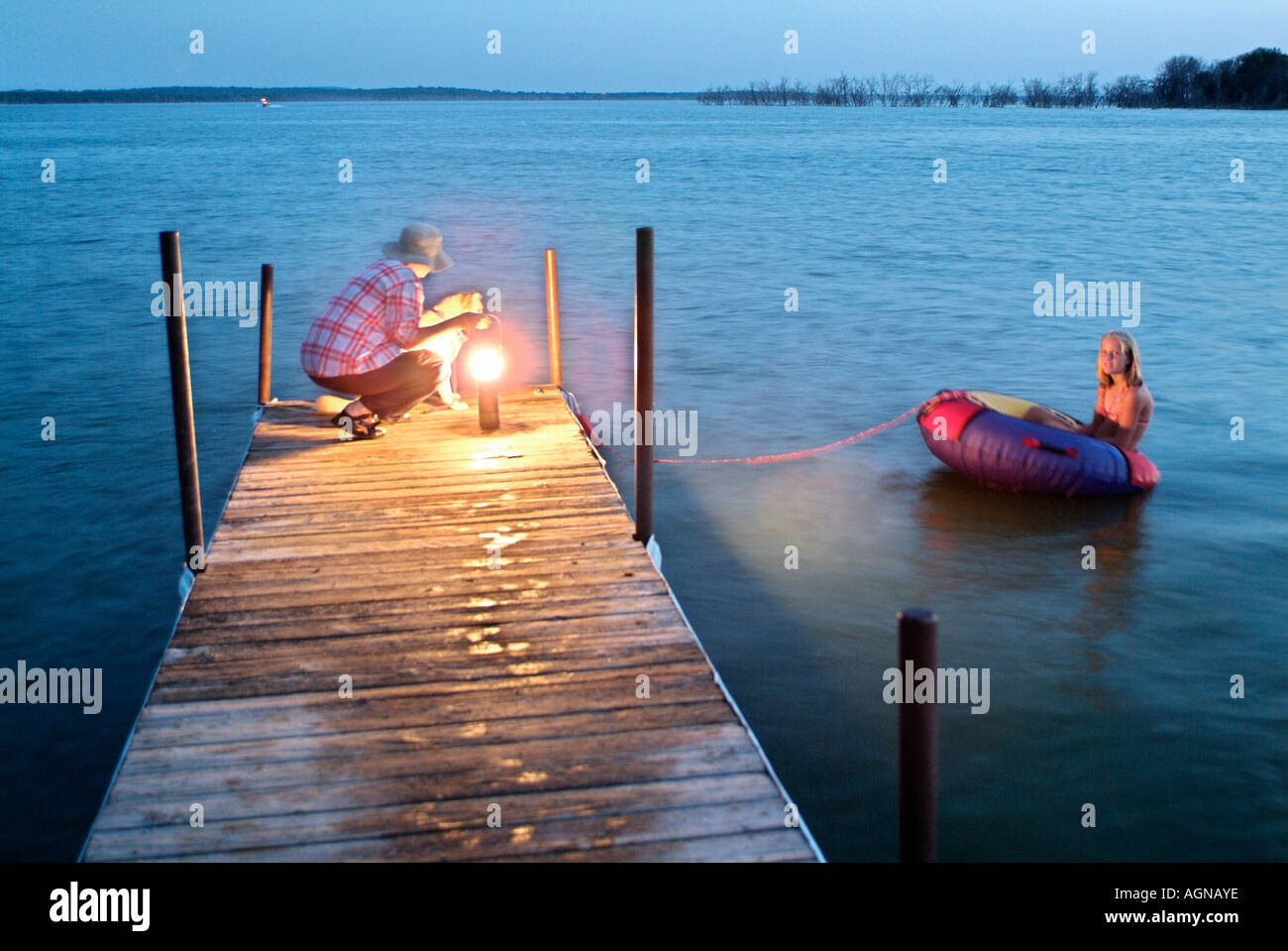 Kids playing in the water - Stock Image