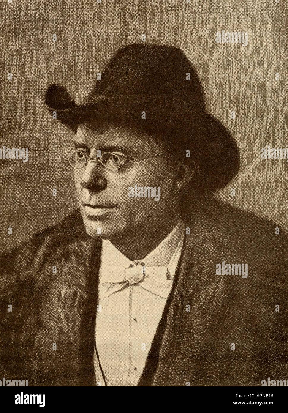 Jonas Lauritz Idemil Lie, 1833 - 1908. Norwegian novelist, poet, and playwright. - Stock Image