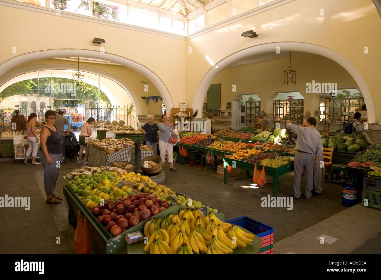 dh  KOS TOWN GREECE KOS Local central fruit market Stock Photo
