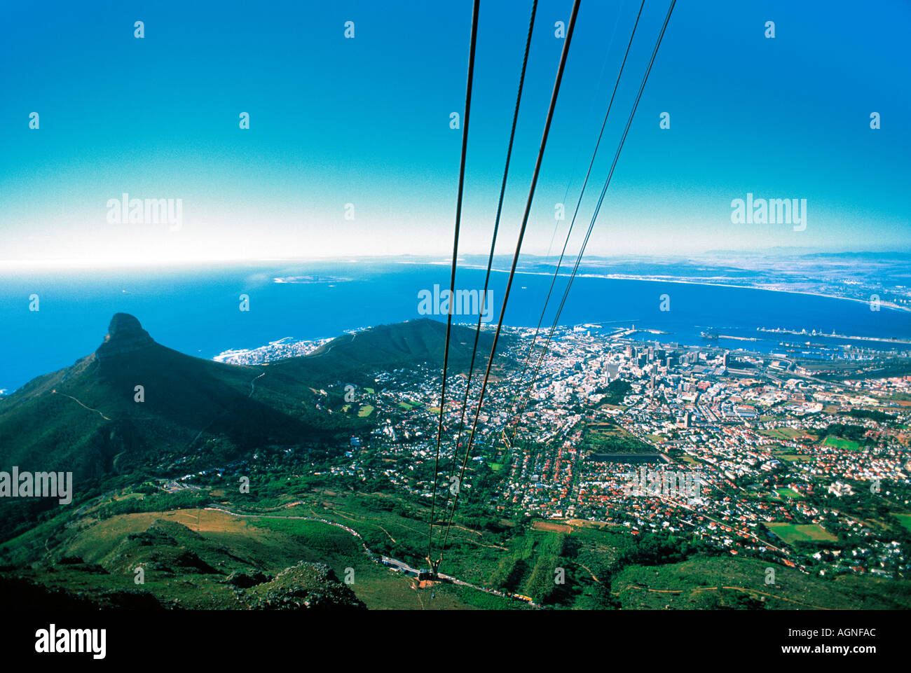 Cape Town from the top of the Cable Station - Stock Image