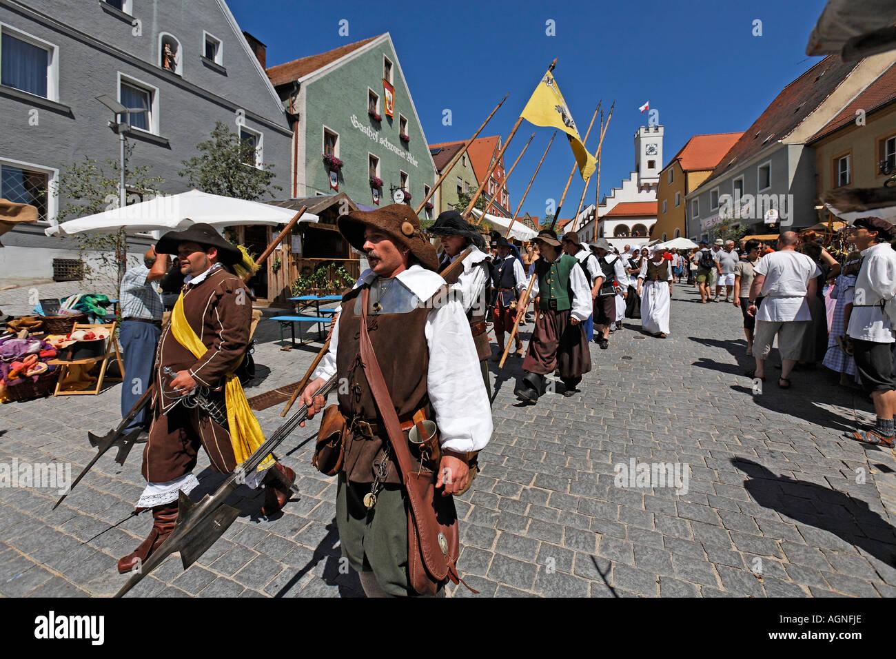 Nabburg , Middle Ages market , Bavaria Germany - Stock Image