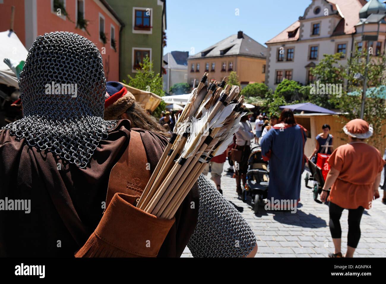 Nabburg , Middle Ages market arrows , Bavaria Germany - Stock Image