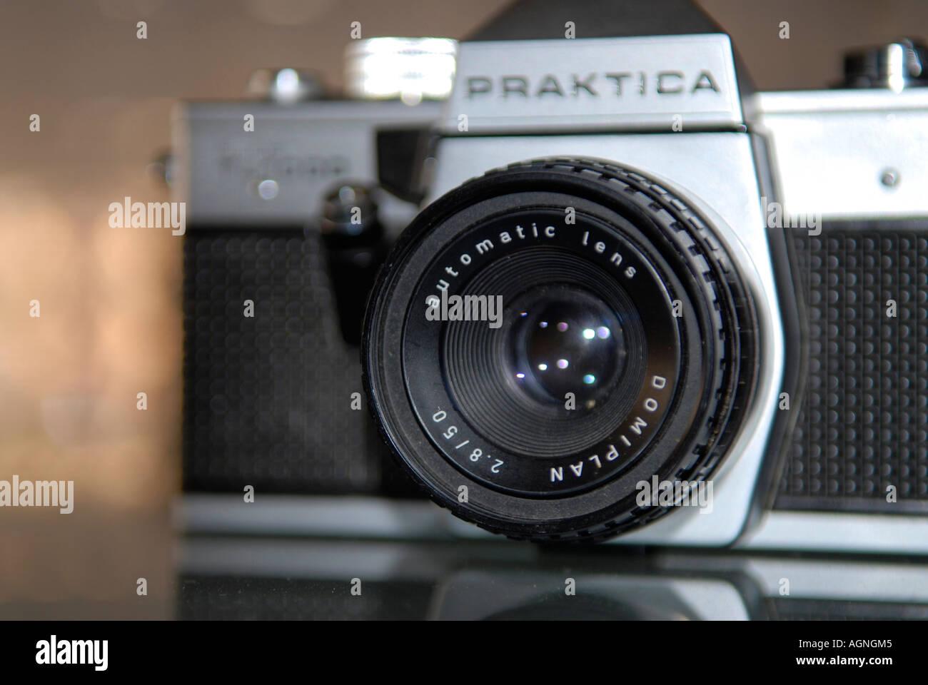 Praktica old camera Nano Calvo VWPics com - Stock Image