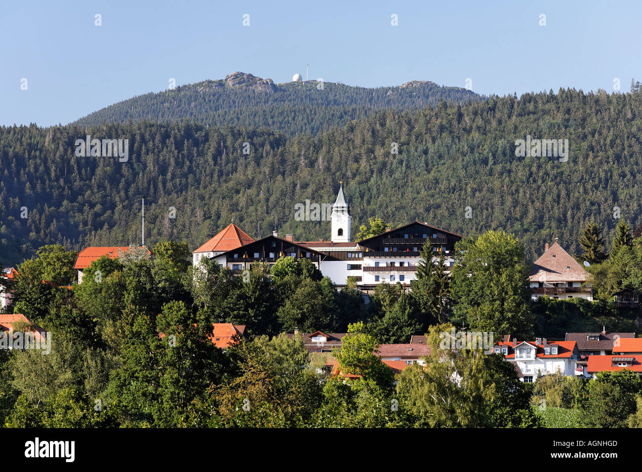 Bodenmais And Great Arber Mountain Bavarian Forest Bavaria Germany