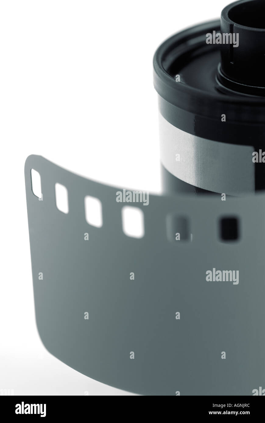 Roll of 35mm Camera Film with Leader Out - Stock Image