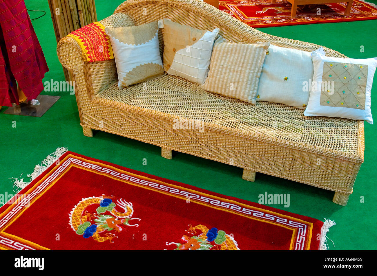 Ethnic Indian Handicrafts U0026 Furniture.   Stock Image