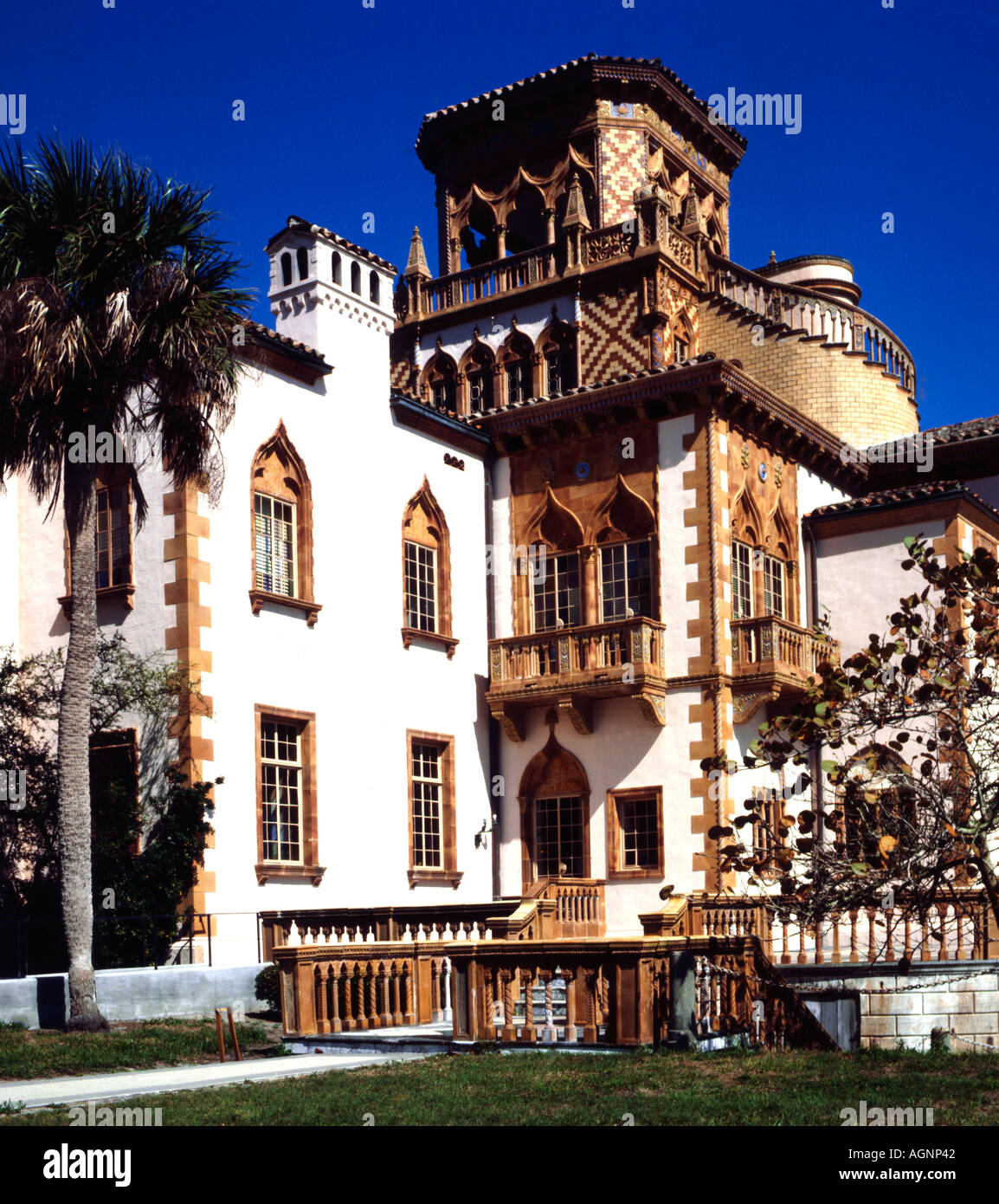 Ca D Zan Mansion at the John and Mable Ringling estate in Sarasota in Florida Stock Photo