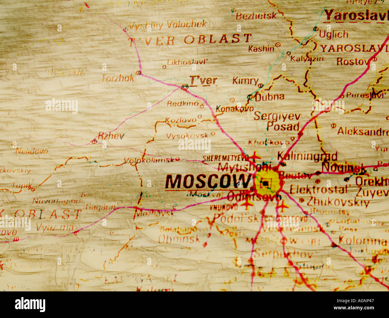 Antique Looking Map Of Moscow Stock Photo Alamy - Antique looking maps