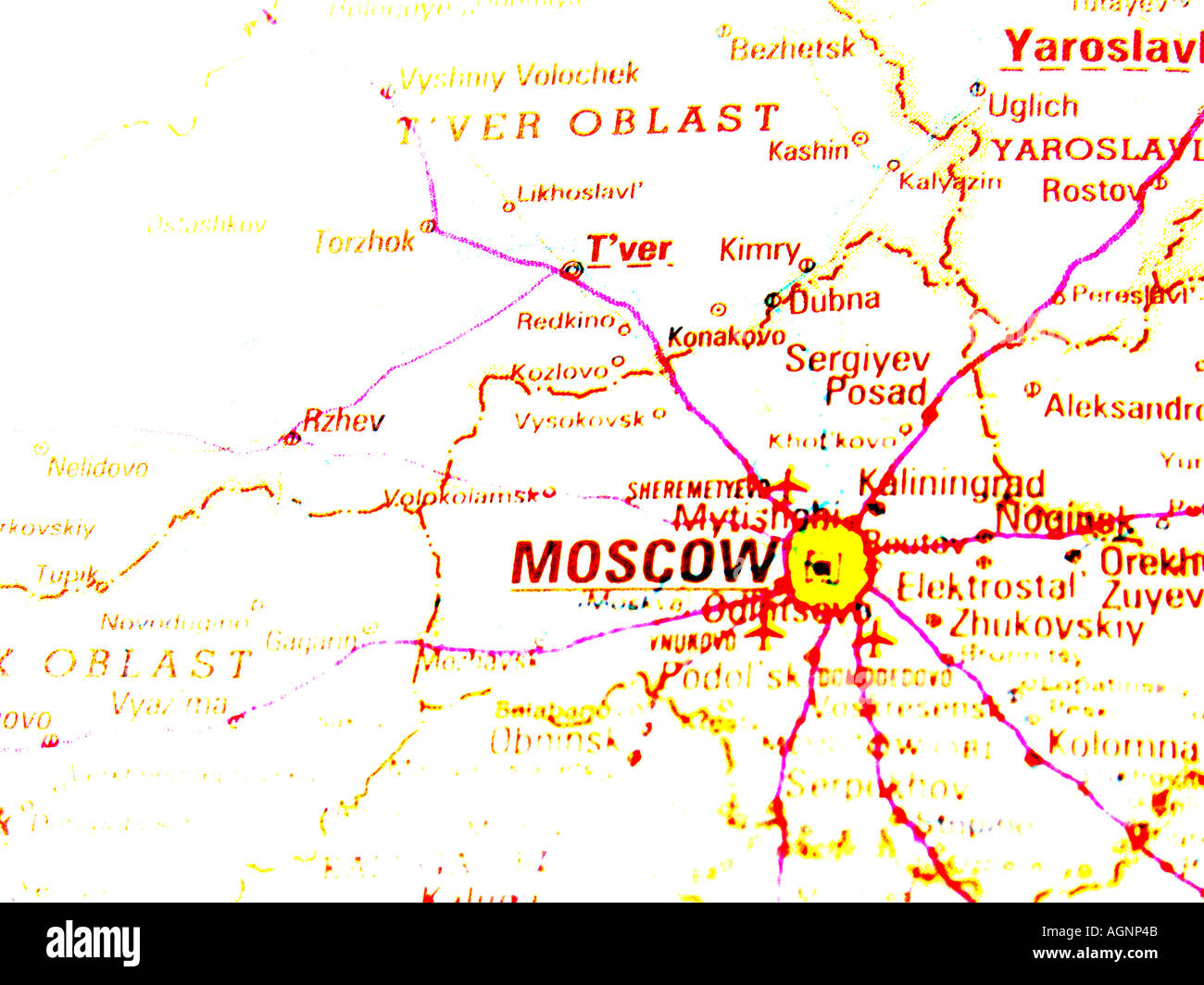 Map of Moscow Russia Stock Photo: 4653642 - Alamy