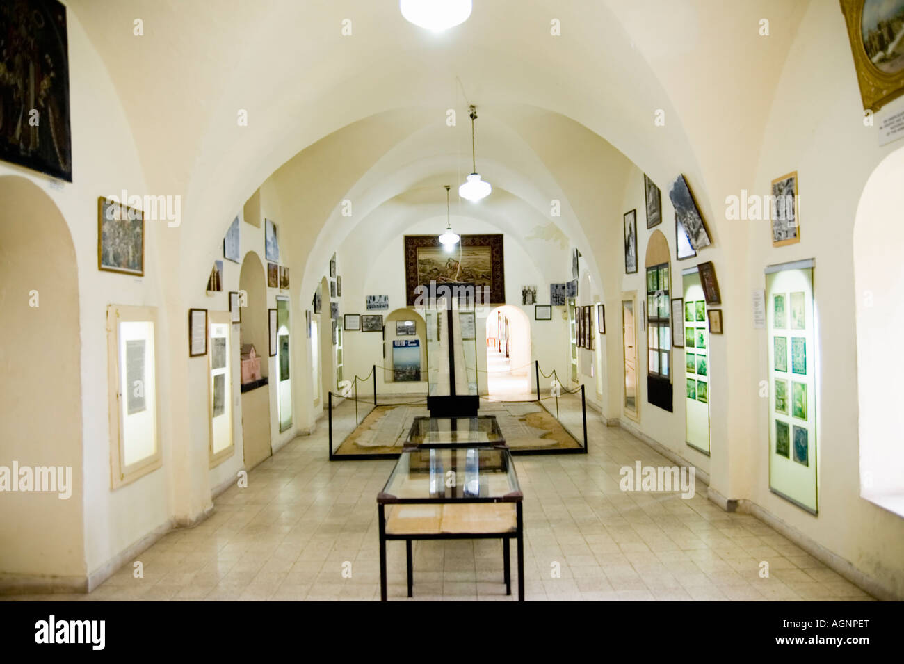 Israel Jerusalem the old city Interior of the Armenian Museum in the Armenian quarters - Stock Image