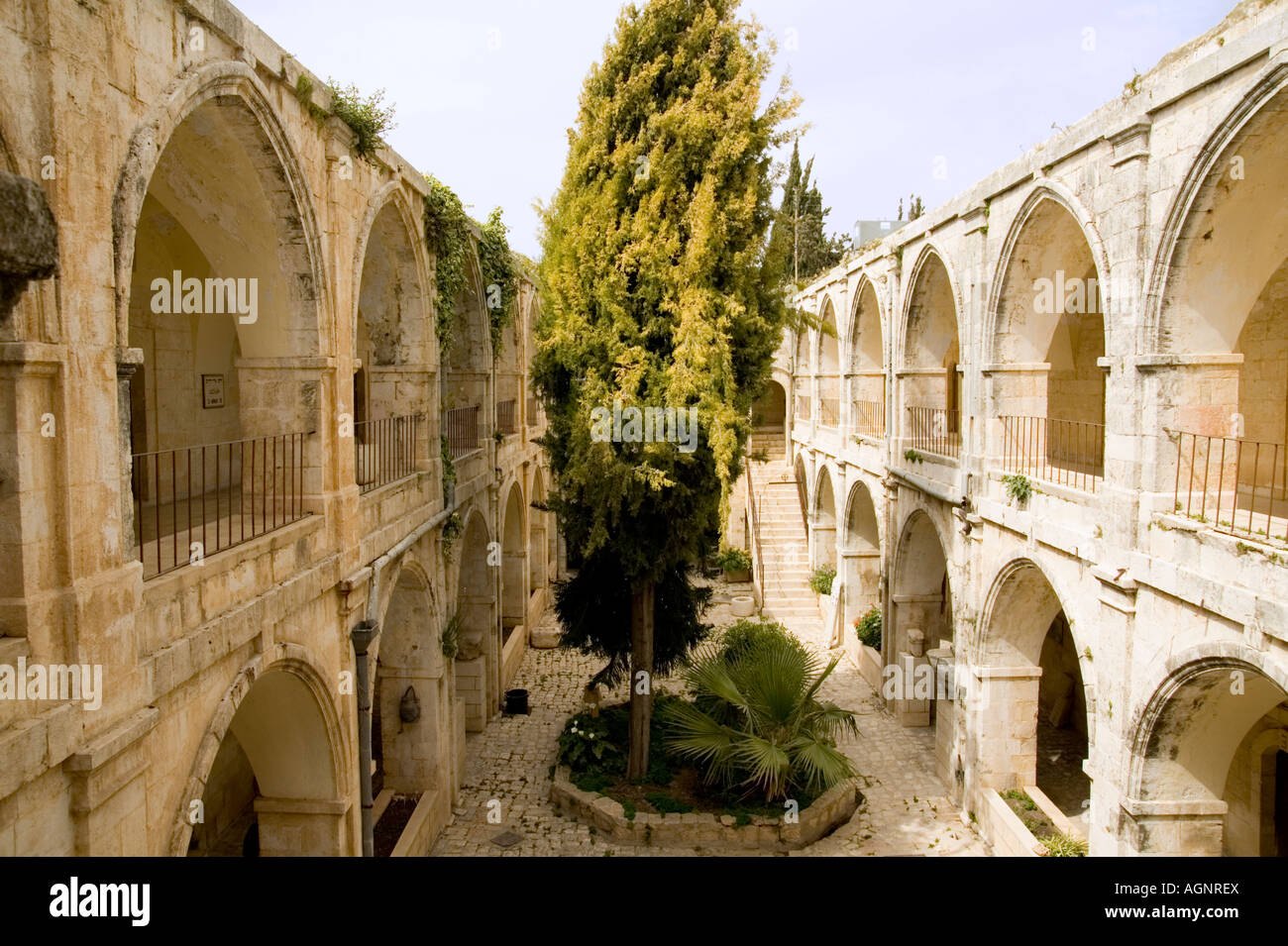 Israel Jerusalem the old city The court yard at the Armenian Museum in the Armenian quarters - Stock Image