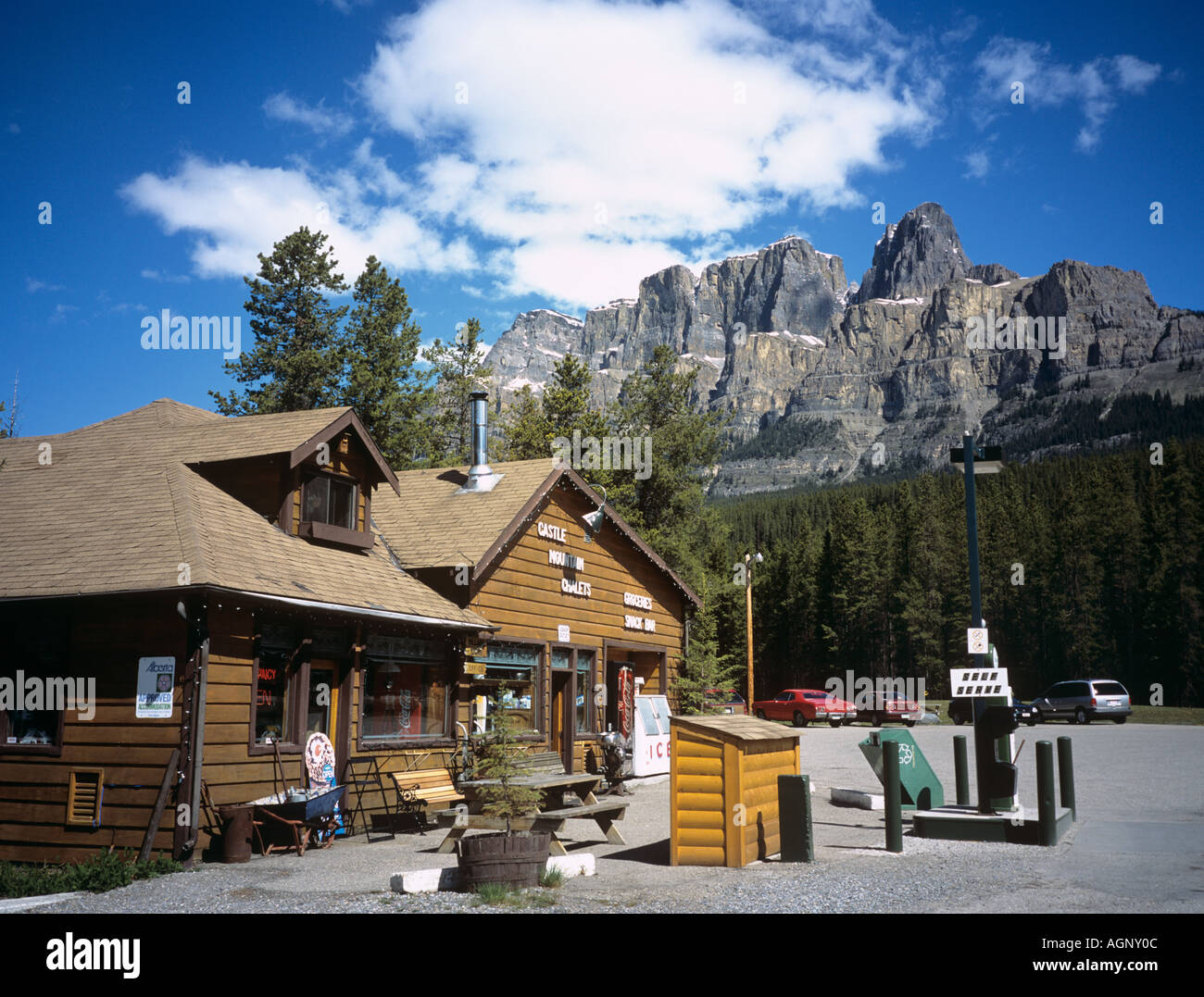 CASTLE MOUNTAIN CHALETS and SHOP Lake Louise Alberta
