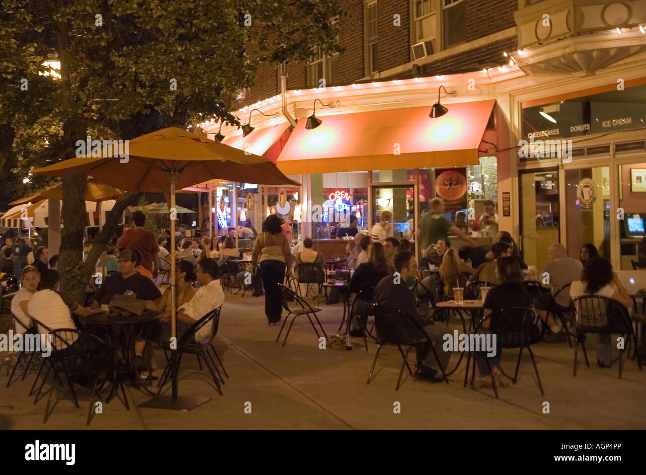 People Dining Outside In The Central West End Neighborhood