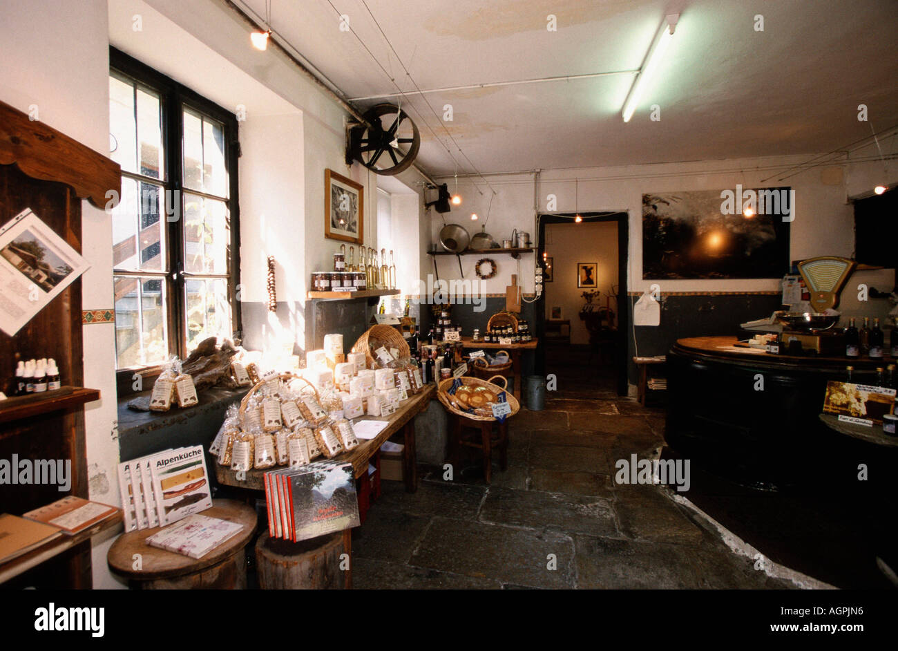 Delikatessen shop / Soglio - Stock Image