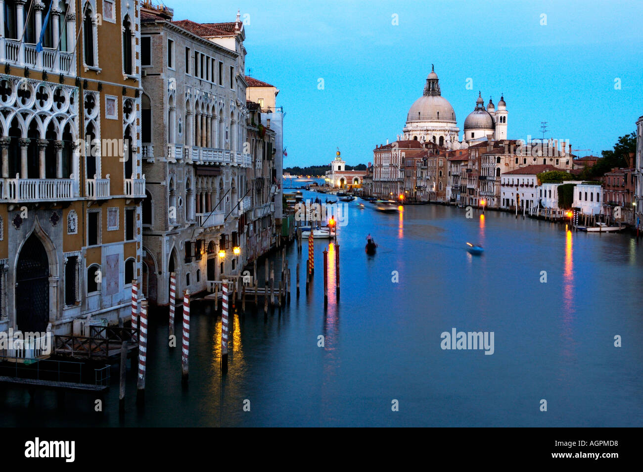 Canal grande from Accademia bridge Venice - Stock Image