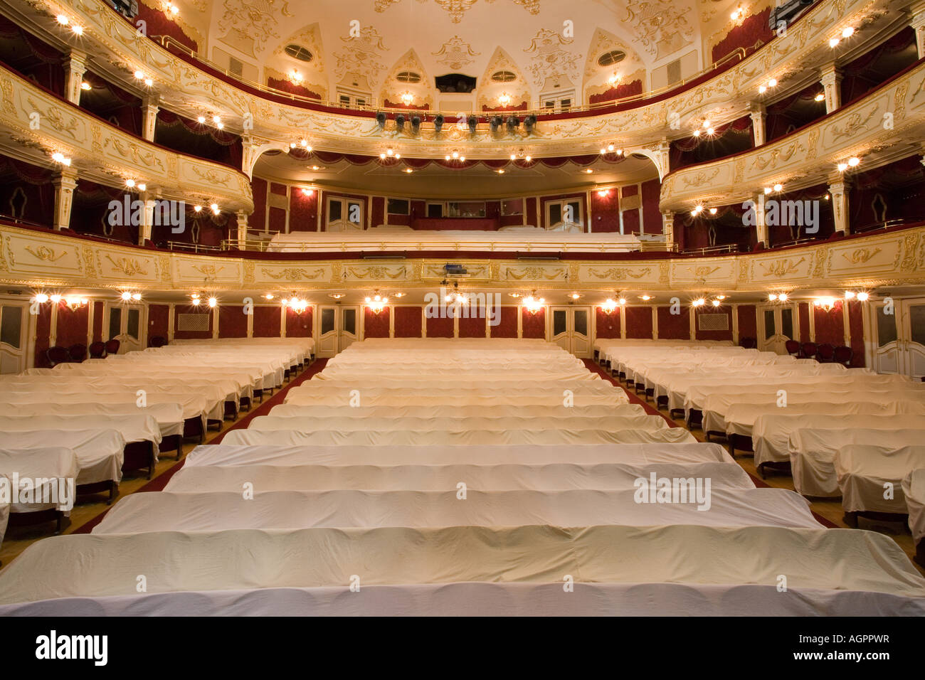 empty theater inside - Stock Image