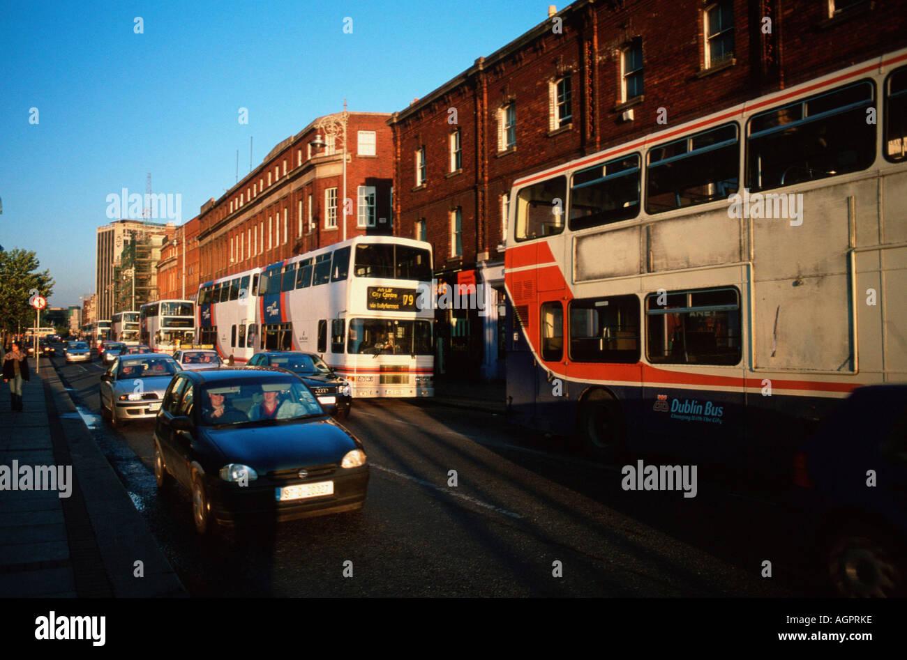 Road traffic / Dublin / Strassenverkehr - Stock Image