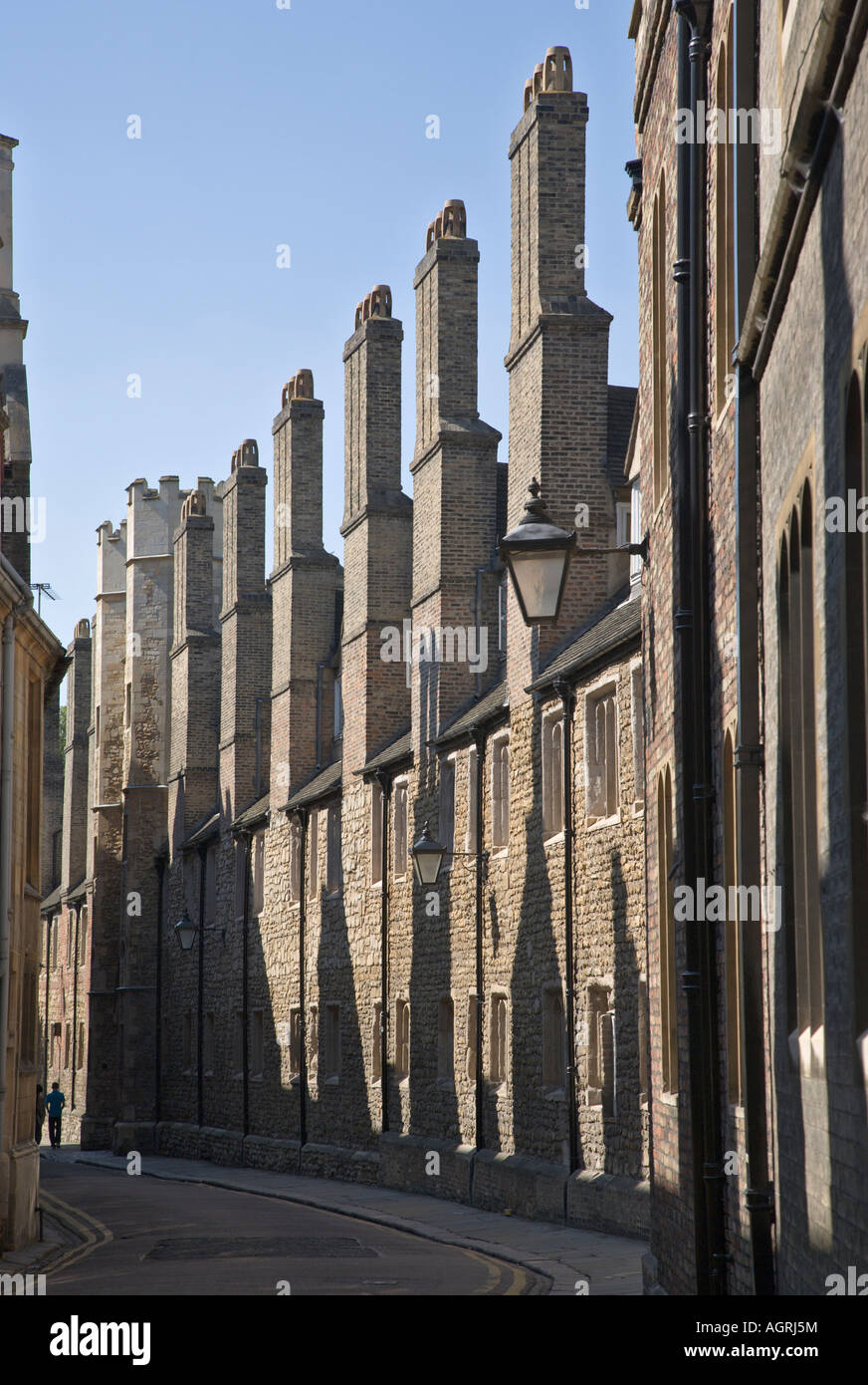Trinity Lane Cambridge Cambridgeshire England showing south wall of Trinity College built - Stock Image