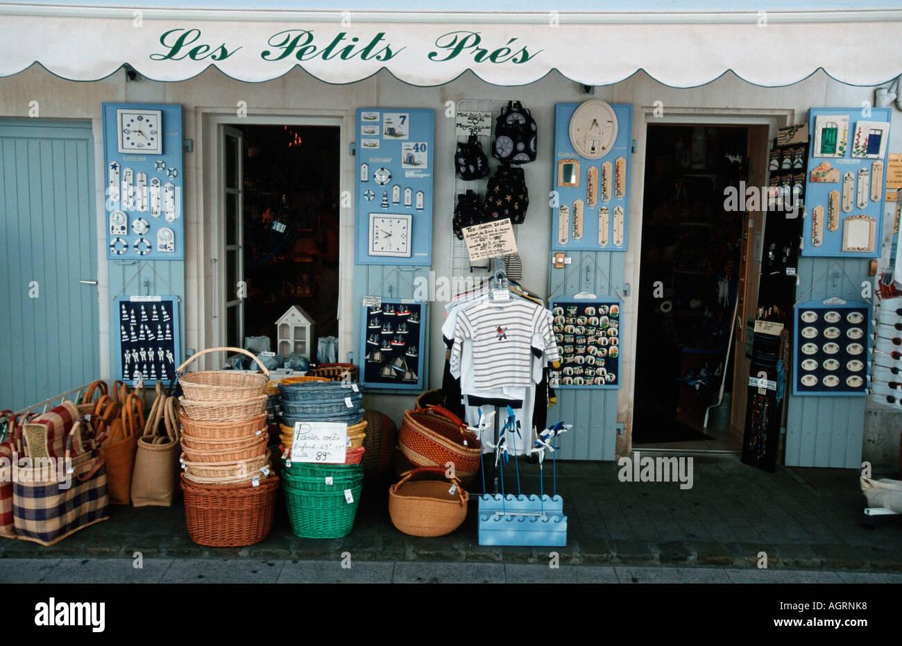 Souvenir shop / Saint-Martin / Ile de Re - Stock Image