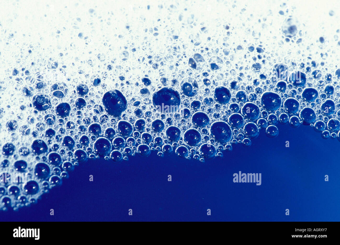 Water bubbles / Foam / Wasserblasen / Schaum - Stock Image