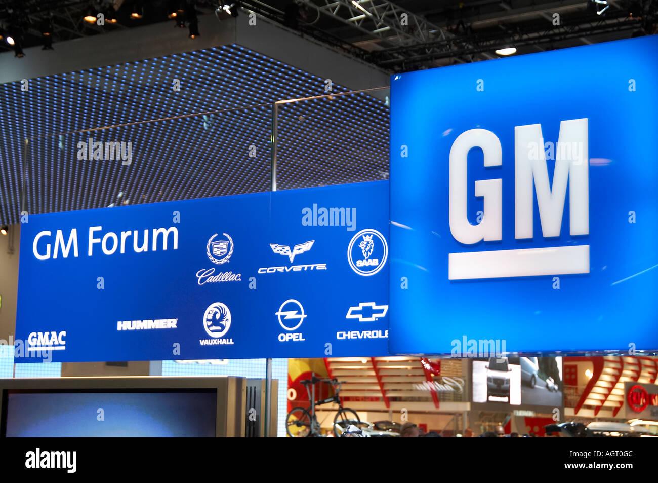 General, motors, gm, car, maker, global, brands, Saab, Chevrolet, opel, Vauxhall, Cadillac, hummer, corvette, Holden, manufactur - Stock Image
