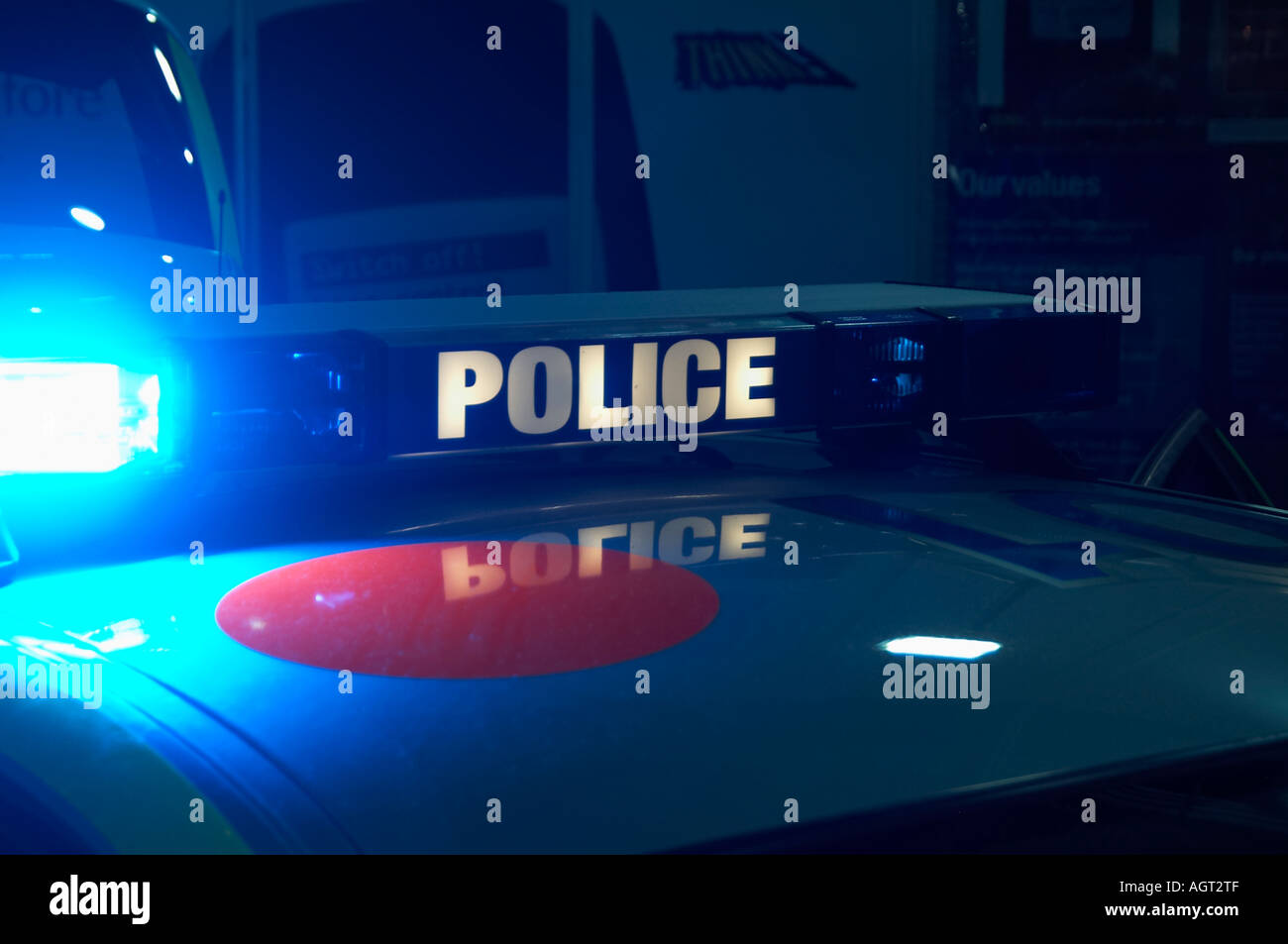 Police, car, blue, light, flashing, emergency, service, crime, law, and, order, chase, car, siren, criminal, jail, Stock Photo