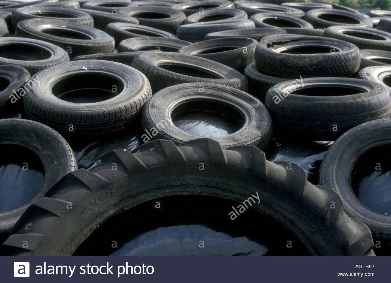 Old Car Tyres Being Used In Farmyard Uk Stock Photo 2657121 Alamy