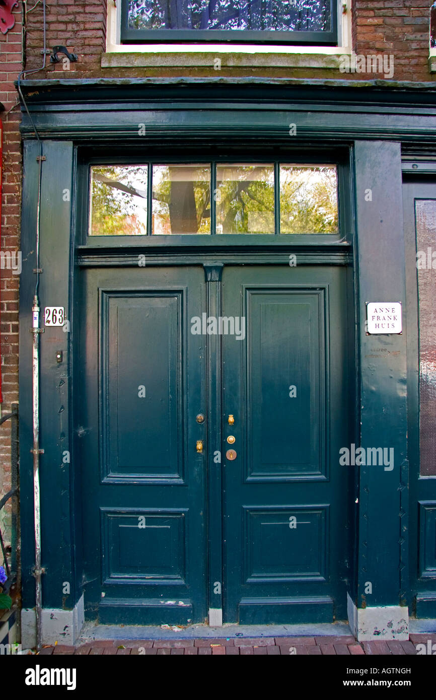 Genial Front Door Of The Anne Frank House In Amsterdam Netherlands