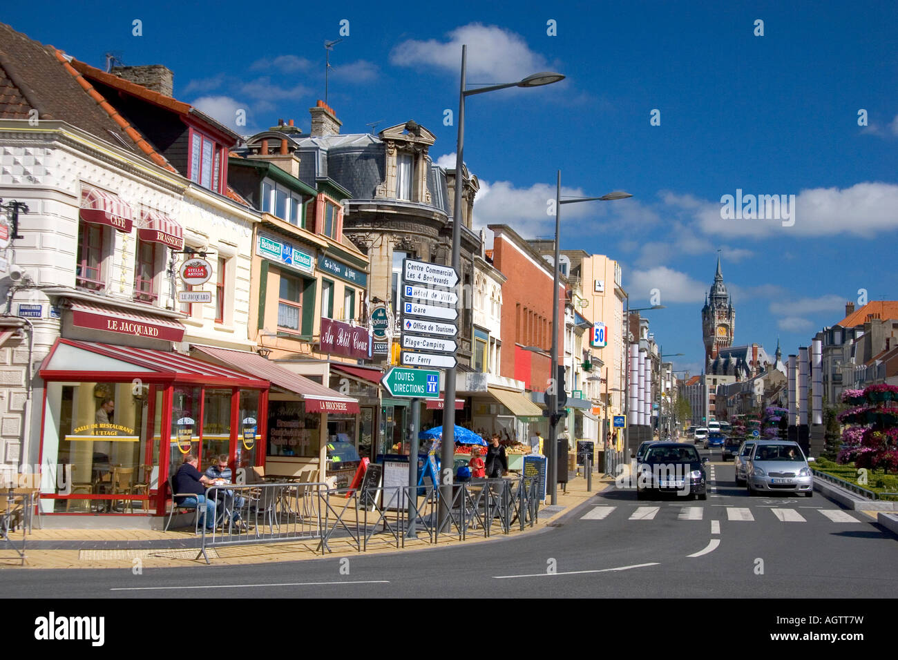 street scene at the city of calais in the departmet of pas de calais stock photo 14283228 alamy. Black Bedroom Furniture Sets. Home Design Ideas