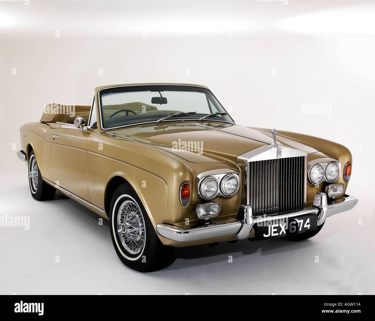1975 Rolls Royce Corniche convertible Stock Photo