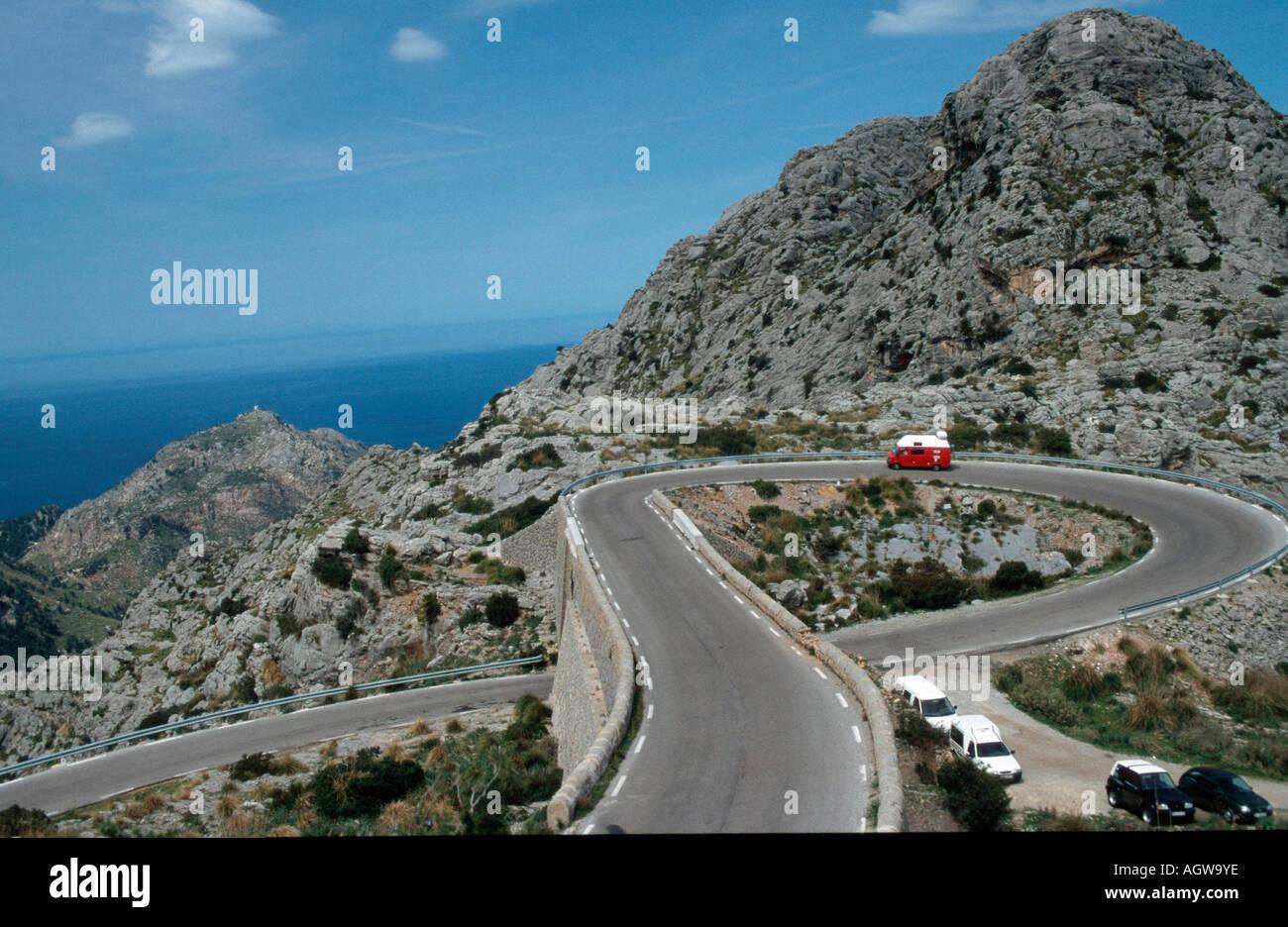 Road to Sa Calobra - Stock Image