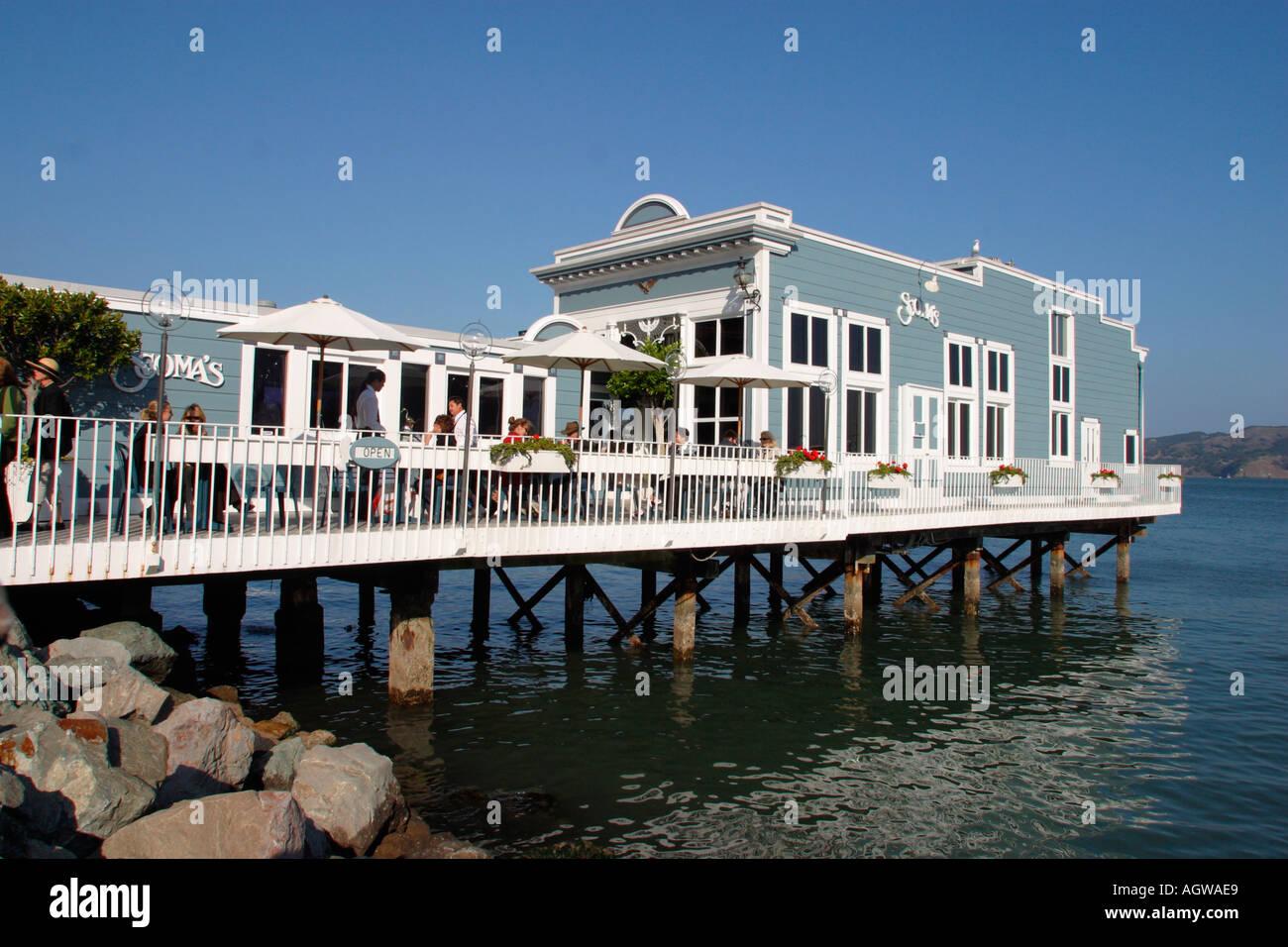 Waterfront Restaurant Sausalito California Stock Photo 2661096 Alamy
