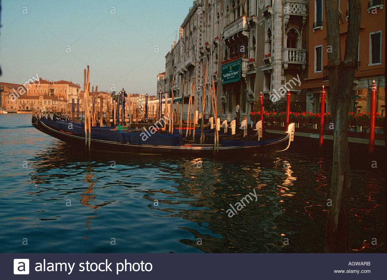 Gondolas / Venice / Venedig / Gondeln - Stock Image